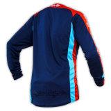 Голубая ткань сетки изготовленный на заказ Джерси полиэфира сублимированный Motocross (MAT35)