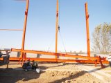 Premontar la estructura de acero prefabricada del edificio industrial (el edificio de acero)