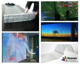 Beweglicher transparenter LED Video-Vorhang der Hintergrund-Messeen-Bildschirmanzeige-