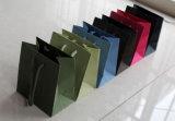 Bolso cosmético revestido promocional del embalaje de la joyería del portador de papel de arte de la mano del regalo de las compras del papel de la impresión de Brown Kraft con la cuerda de nylon del algodón (D203)