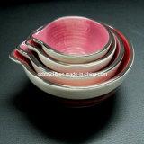 Tasses de mesure en céramique peintes à la main réglées de 4 (GW1229)