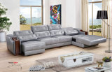 Sofa de Recliner, sofa en cuir d'air, meubles à la maison L sofa de forme (666)