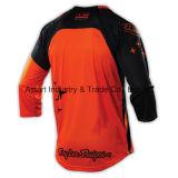 Desgaste de ciclagem dos esportes de Motorcross do projeto novo alaranjado que compete Jersey (MAT57)