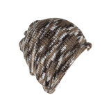 طباعة جاكار [كمو] [بني] شتاء قبّعة