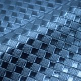 A grade quadrada Textured o couro artificial do plutônio, couro gravado estrutura do saco