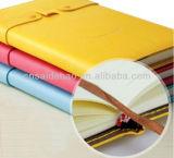 2015 Diseño PU Notebook Sonrisa linda Diseño cubierta diario con titular de la pluma