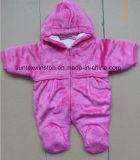 フード付きの冬様式の赤ん坊のスーツ