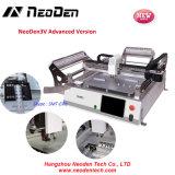 Viruta Mounter del bajo costo de Neoden3V pequeña, selección y máquina del lugar que sueldan, 2 pistas de SMT 44 alimentadores
