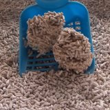 Очистьте деревянный сор кота/Clumping & высокое качество
