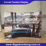 Individuelle Curved Werbung Spannungs-Gewebe-Messe-Display