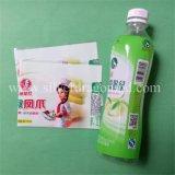 Escritura de la etiqueta del encogimiento del PVC del animal doméstico para la botella de agua mineral