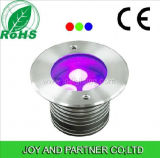 Lumières de paquet de l'acier inoxydable 9W RVB DEL (JP82534)