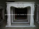 Cornija de lareira cinzelada mármore da chaminé (GS-FF-024)