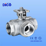 API Three Way Ball Valve com Plate Form