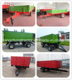 Heavy Duty Farm Tipping Trailer, inclinação traseira e lateral com Ce