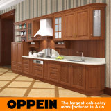 Oppein SGSオークベストラインキッチン食器棚(OP15-PP01)