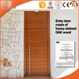 Madera sólida una puerta con bisagras de madera interior del marco
