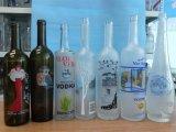 Botella de cristal de impresión / botella de vidrio con la etiqueta