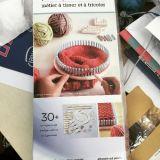 Outil de tricotage à la main en plastique circulaire Ket du manche DIY