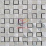 Tuiles de mosaïque beiges de forme d'armure de mélange en aluminium de couleur d'or (CFA78)