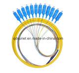 оптическое волокно 12cores Sc/Upc образовало отрезок провода