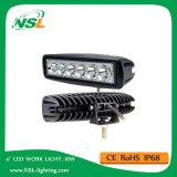 자동 LED 일 표시등 막대 18W 12V 빛을 작동되는 6 인치 트럭 차량