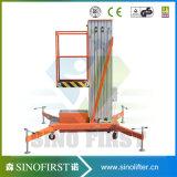 Plate-forme de travail Aloft de levage en aluminium à deux mètres de 10m 14m