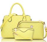 Les plus défuntes dames 2PCS dans 1 Madame bon marché réglée Handbag, sac en cuir d'emballage des prix d'unité centrale de 2016 automnes plus la pochette