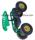 Работа завальцовки сада 4 колес усаживает тележку инструмента