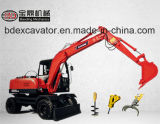 Excavadores hidráulicos de la mini rueda