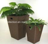 De Plaat van de Pot van de Bloem van de Rotan van de Bloem Pot/PE van de tuin/van de Pot van de Bloem (Sc-8041-1)