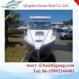 Barco de cabine de alumínio de venda quente Caminhada ao redor do barco Barco de pesca de recreio