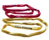 Imbracatura di sollevamento rotonda della tessitura del poliestere resistente di GS
