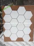 Mosaici di pietra di marmo bianchi