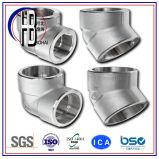 Instalación de tuberías del molde del precio bajo codo ANSI16.3 de la autógena del socket del acero inoxidable de 90 grados en venta