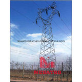 110kv Cat Head Type Single Circuit Overhead Transmission Steel Tower