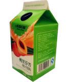 carton de jus de la pêche 468ml/carton triangulaire avec des chapeaux