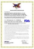 O aço inoxidável Titanium Certificated FDA Eyewear ótico do Ce/molda a maquinaria da estaca do laser do metal