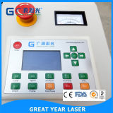 Grabador y cortador del laser con arriba y abajo del vector