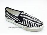 Zwei Farben-Komfort-flache Dame Sneaker mit Beleg auf (ET-LH160305W)