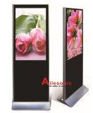 42-Inch LCD, das den Spieler-Fußboden steht mit rechtwinkligem, DigitalSignage bekanntmacht