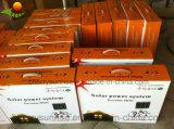 Mini portátiles recargables kits solares de la luz solar con 3 Bombillas y cargador de teléfono móvil