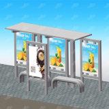 Forme de rectangle de profil en aluminium imperméable à l'eau extérieur/acier inoxydable mettant en rouleau le kiosque de bus de cadre léger