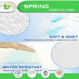 Protecteur de matelas d'épreuve tricoté par coton d'insecte de bâti de tissu imperméable à l'eau