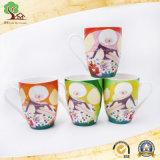 Tazas lindas de la muchacha de la nueva de hueso 11oz taza de cerámica de encargo respetuosa del medio ambiente de China