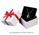 Het Vakje van de Juwelen van het document/Vakje van het Document van de Gift van de Juwelen van het Lint het Verpakkende met Schuim