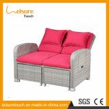 Salon en aluminium extérieur de meubles de sofa de rotin de PE de patio extérieur durable de jardin avec des coussins