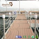 Decking al aire libre compuesto de madera impermeable del material de construcción de WPC
