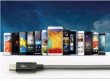 도매 1m 전화를 위한 다채로운 땋는 어망 마이크로 USB 데이터 케이블