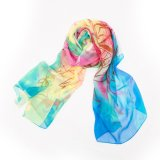 Seide-Schal der Dame-Luxury Style Colorful Printed